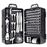 Precision Screwdriver Set,135 in 1 Magnetic Repair Tool Kit for iPhone Series/Mac/iPad/Tablet/Laptop/Xbox Series/PS3/PS4/Nintendo Switch/Eyeglasses/Watch/Cellphone/PC/Camera (Upgraded) (black)