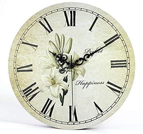 Vida Silenciosa Accesorios Para Relojes Tradición Artística Gran Decoración Del Hogar Arte Retro Reloj De Pared Grande Reloj De Flores Pared Hogar Sala De Estar Dormitorio Relojes Escolares 30x30cm