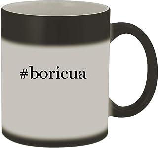 #boricua - 11oz Color Changing Hashtag Sturdy Ceramic Coffee Cup Mug, Matte Black