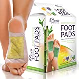 Prescia Foot Pads (16) Stress Relief, Sleep Aid, Cleansing, All Natural Organic Bamboo Vinegar Foot Patches with Ginger, Lavender, Orange, Mugwort