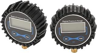 Homyl 2 peças de ferramentas profissionais de compressão de ar digital para pneus, medidor de pressão