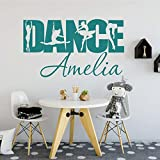 HNXDP Diseño creativo DANCE Text Ballet Bailarina personalizada Vinilo Interior...