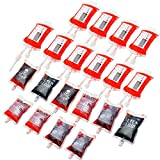 wartleves 20 Pack Blood Bag for Drinks Halloween Party Cups Drink Container 350ml Reusable Halloween Drink Pouches Vampire Zombie Hospital Theme Party Nurse Graduation Costume Favors