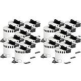 20x compatible Etiquetas continuas DK22205 blanco para Brother impresora de etiqueta QL1050 / QL1060 / QL500, QL550, QL560, QL570, QL580, QL650, QL700, QL710, QL720 / 62mm x 30.48m