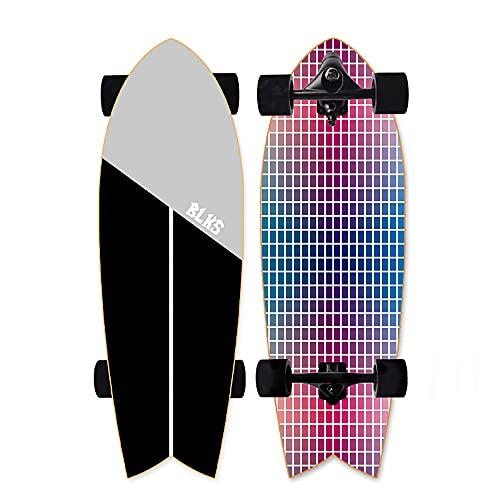 VOMI Monopatín Skate Longboard Cruiser Carver Surfskate Scooter Freestyle 29 Pulgadas Crucero Completo Adolescentes Adulto Tabla De Surf De Carretera for Adolescentes Principiante Cepillo Call