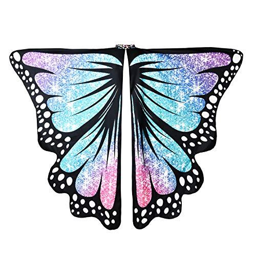 ReliBeauty Alas de Mariposa Disfraz Mariposa Mujer Carnaval,Color
