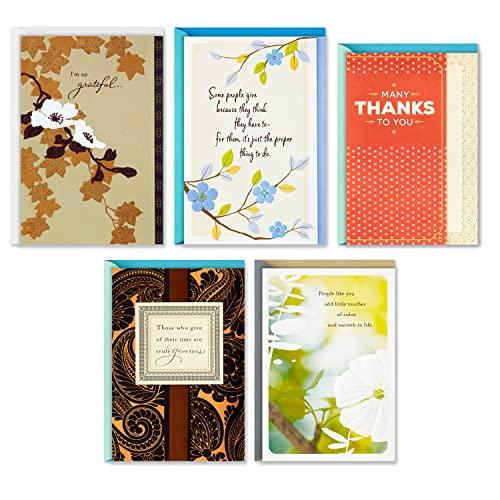 Hallmark Thank You Greeting Card Assortment (5 Cards, 5 Envelopes)