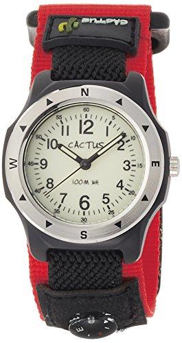 [カクタス] 腕時計 蓄光ダイヤル 10気圧防水 簡易コンパス付 CAC-65-M07 正規輸入品 レッド