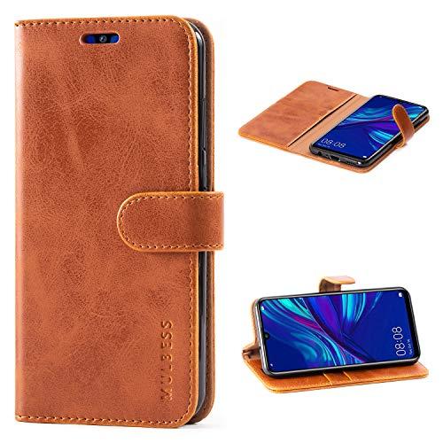 Handyhülle für Honor 20 Lite Hülle, Leder Flip Case Schutzhülle für Huawei P Smart+ 2019 / Honor20 Lite Tasche, Cognac Braun