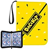 D DACCKIT Carrying Case Binder Compatible with Pokemon Card, Holds Up to 400 Cards - Trading Cards Collectors Album with 50 Premium 4-Pocket Pages (Lightning Yellow)