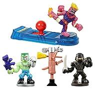 Akedo Ultimate Arcade Warriors Starter Pack Mini Battling Action Figures Ready, Fight, Split Strike