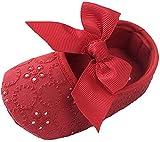 Matt Keely Bebé Chicas Bowknot Bautismo Zapatos Prewalker Rojo 6-12 Meses...