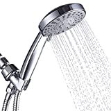 VXV Shower Head with Handheld High Pressure, Hand Held Showerhead, with 6ft Hose, Removable Detachable Shower Heads 5 Sprays Setting, Bracket, Teflon Tape, Rubber Washers Chrome