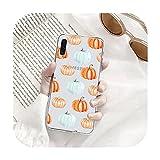 Citrouille Halloween mignon Coque de téléphone transparente pour Samsung A71 S9 10 20 pour Huawei...