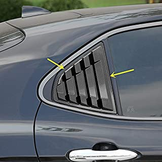 2X Sport Style Carbon Fiber Print Quarter Window Scoops Louvers for Toyota Camry 2018 2019