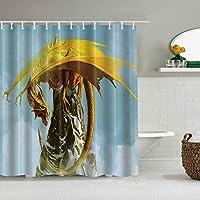 シャワーカーテンカモバックディア防水バスカーテンフックに含まれるdBathroom装飾的なアイデアポリエステル生地アクセサリー