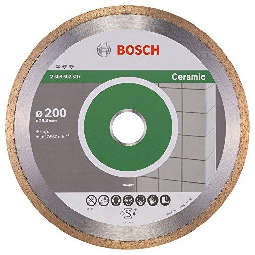 Bosch Professional Diamanttrennscheibe Standard für Ceramic, 200 x 25,40 x 1,6 x 7 mm, 2608602537