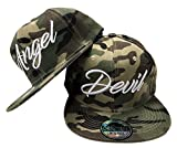 JameStyle26 Angel & Devil Snapback Set USA Cap Kappe Basecap Mütze Trucker Cappy Kult Partner Look (Angel & Devil Camouflage Set)
