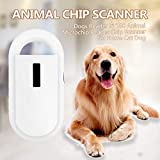 KKmoon Chiplesegerät Tierchip Lesegerät Chipleser Microchip Reader Chip Scanner für Tierverfolgung Unterstützung ISO11784 / 11785 FDX-B