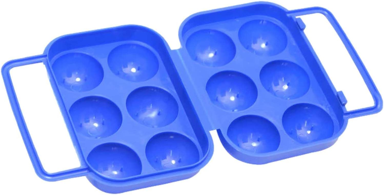 Poiuqew 6 Girds Egg Storage Box Egg Dispenser Holder Case Refrig