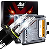 WinPower Hir2/9012 55W Coche HID Xenon Kit con Lastrey CAN-Bus Super decodificador Faro Reemplazo Bulbo 6000K Blanco puro,2 piezas