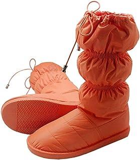 [Ocamabe] ルームシューズ ダウン アウトドアスリッパ 長靴 ダウンブーツ 保温 防水 冬用 ふわふわ 滑り止め テント シューズ 除雪作業 室内 オフィス アウトドア キャンプ用 4色