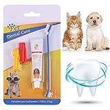 CBROSEY Dog Toothpaste,Pasta Dental Perros,Toothbrush for Dog and Cat,Cepillo de Dientes para Perro y Gato,Kit Cuidado Dental,Mejorar la Higiene Oral Previene la Enfermedad de Las Encías y la Placa
