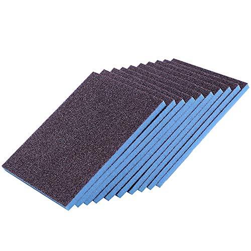 DSISI 10 Piezas de Esponja de esmeril, Cepillo de Olla para descalcificar y descontaminar, Estropajo doméstico, Limpieza de Cocina y toallita mágica para Lavar Platos
