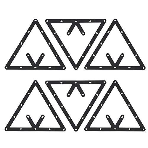 Jinxuny 6pcs / Set Accesorios de Taco de triángulo de Hoja de Soporte de Estante de Bola de Billar para Paquete Combinado de 8 9 10 Bolas y Snooker
