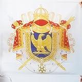AZ FLAG Flagge Wappen Napoleon Frankreich ERSTES KAISERREICH Empire 1804-1815 90x90cm - Kaiser Napoleon Fahne 90 x 90 cm Scheide für Mast - flaggen Top Qualität