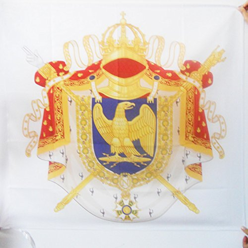 AZ FLAG Imperial Napoleon Coat of arms First French Empire Flag 3' x 3' for a Pole - Napoleonic Empire of France Flags 90 x 90 cm - Banner 3x3 ft with Hole