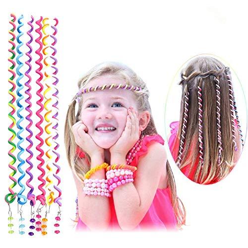 Haar Torsion,Torsion Haarschmuck,Mädchen Haar Styling Twister,Frauen Mädchen 12 Stück Bunte Haar Torsion Haarschmuck mit Strass Haar Accessoires Mehrfarben