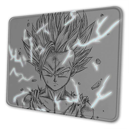 Gohan Ssj2 by Simonpdv Classic Non-Slip Mousepad Gaming Computer Mouse Pad Gaming Desktop Laptop Mouse Pad with Stitched Edge 10x12 in