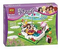 本の友人シリーズセットエマステファニーミアオリビアアンドレアビルディングブロックおもちゃ女の子 と互換性
