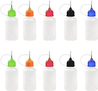 10Pcs/Set Empty Plastic Squeezable Liquid Dropper Filling Bottles, Needle Tip Applicator Glue Bottle DIY Quilling Tool Pre...