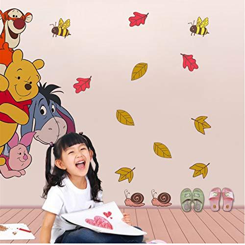 Dessin Animé Winnie Pooh Stickers Muraux Chambre Chambre D'Enfant Décor À La Maison Disney Animaux Zoo Stickers Muraux Diy Affiches Pvc Peinture Murale 40X60Cm