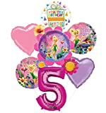 Mayflower Tinkerbell 5th Birthday Party Supplies Flower Cluster Balloon Bouquet Decorations