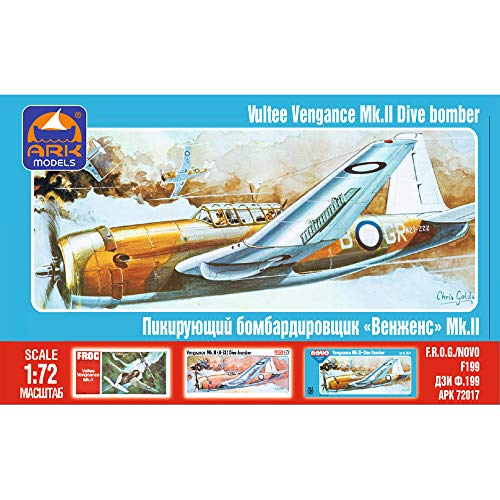 Vultee A-31 Vengeance American Dive Bomber Russian Airplane Model Kits Scale 1:72 Assembly Instructions in Russian Language