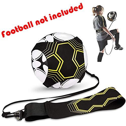 Solo Fußball Trainer,Football Kick Trainer Soccer Practice Training mit Verstellbarem Taillengürtel Fußballtraining mit Neopren Gürtel für Kinder Anfänger Erwachsene