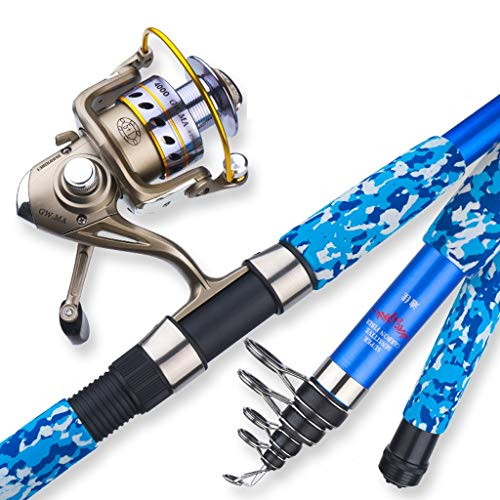 zunruishop Salzwasser-Angelrute Super Hard Carbon Tele Long and Short Sea Rod Set Lange Gußstab Gußstab Sea Angelrute Angelrute Angelausrüstung Full Set Angelrute (Size : 3.0meters)