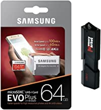 Samsung 64GB MicroSD XC Class 10 Grade 3 UHS-3 Mobile Memory Card for Samsung Galaxy S7 & S7 Edge S8 & S8 Plus with USB 3.0 MemoryMarket Dual Slot MicroSD & SD Memory Card Reader