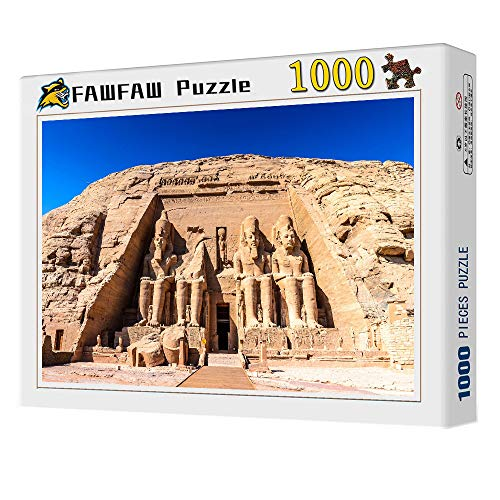 FAWFAW Rompecabezas 1000 Piezas, Abu Simbel, Egipto Edificio Histórico Paisaje Rompecabezas Juguetes Regalos para Niños
