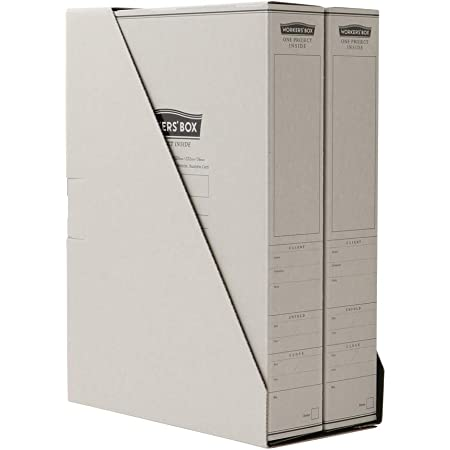 HYMO HMWB-1823 Worker's Box, Wide Paper A4 Documents and Small Items Storage Box, 2 Pre-Assembled, Exclusive Stand