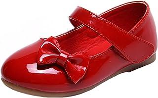 2f0c7f67eadd7 Bevalsa Bébé Fille Princesse Chaussures Ballerines Mary Jane Chaussures  Étudiants Chaussures en Cuir Chaussures De Danse
