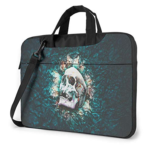 XIAONI Psychedelic Skull Laptop Shoulder Bag Compatible with 13 Inch, 14 Inch, 15.6 Inch MacBook Case