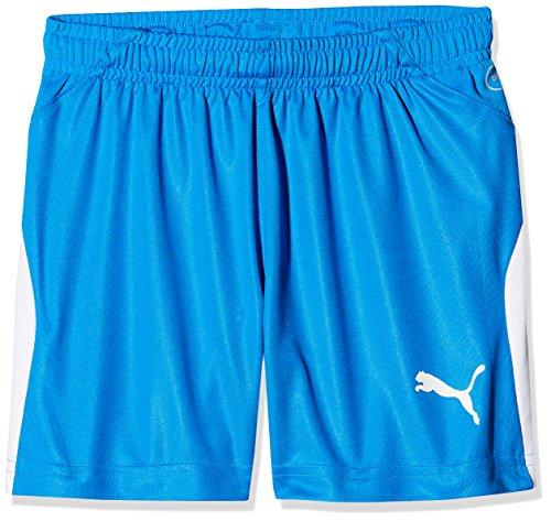 PUMA Unisex Kinder, LIGA Shorts Jr Shorts, Electric Blue Lemonade-White, 140