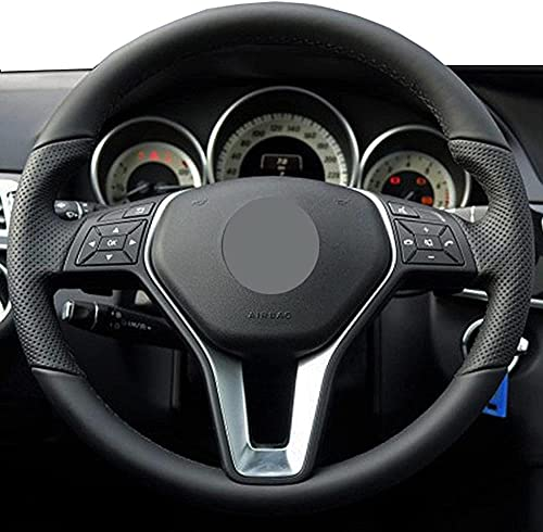 Funda para volante de coche de piel cosida a mano, para Mercedes-Benz...