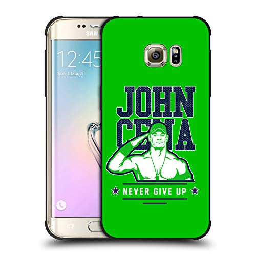Head Case Designs Offizielle WWE John Cena Never Give Up 2 2018/19 Superstars 4 Schocksichere Matt Schwarze Huelle kompatibel mit Samsung Galaxy S7 Edge