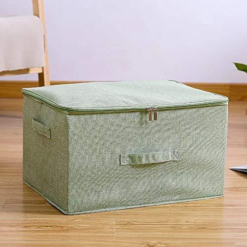 Plushfarm Caja de Almacenamiento de algodón y Liso con Gorra de Ropa Socks Toy Snacks Sundies Oraganier Set Organizador de hogares (Color : Green, Size : 38x26x15cm)