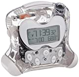 Oregon Scientific RM313PNFA New FLIP Projection Feature Self-Setting Projection Flip Clock, New Clear Transparent Special Edition